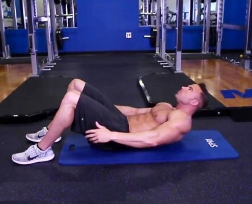 حرکت شکم با لمس پاشنه خوابیده