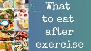 بعد از ورزش چه بخوریم